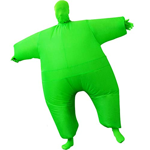 Inflatable Masquerade Costume Full body suit Air Blow up Costumes Fancy Dress Ball Party Christmas Carry Funny Cosplay Halloween Carnival Jumpsuit Suit Outfit (green)