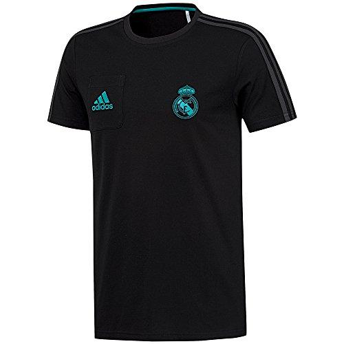 adidas tee Camiseta Real Madrid, Hombre, Negro, S