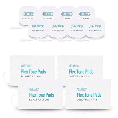 DR-HO'S Pain Therapy System Accessories - Gel Pads Package (2 Pairs of Large Flex Tone Pads & 4 Pairs of Small Gel Pads) - for Pain Management, Back Pain and Rehabilitation