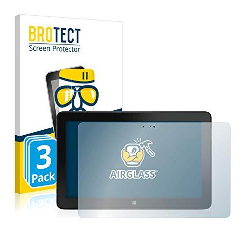 BROTECT Panzerglas Schutzfolie kompatibel mit Dell Venue 11 Pro 7140 (2013-2014) (3 Stück) - AirGlass, extrem Kratzfest, Anti-Fingerprint
