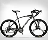 ZTYD 26 Pouces Vélo de Route, 27 Vitesses Vélos, Double Frein à Disque, Cadre en Acier au Carbone...