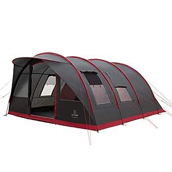 Justcamp Atlanta 7 Tente familiale, tente tunnel pour 7 personnes - gris