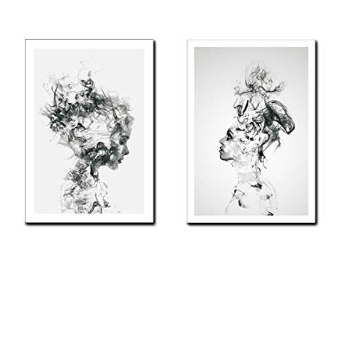 Black and White Canvas Wall Art for Living Room Bedroom Bathroom Girls Pink Paris