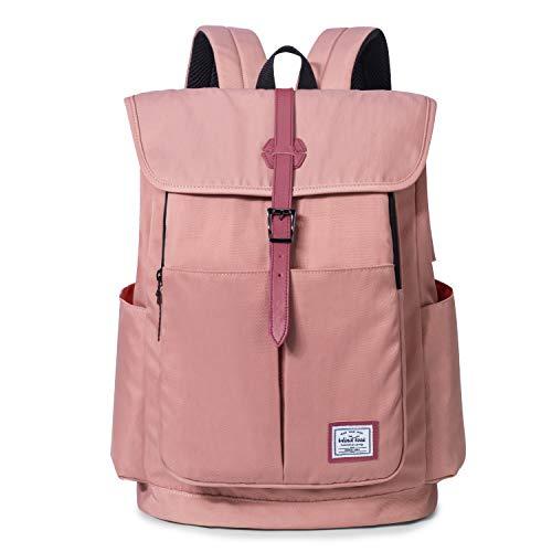 WindTook 15,6 Zoll Laptop Rucksack Backpack Daypack Schulrucksack Notebook Damen Herren mit USB Anschluss für Uni Arbeit Campus Freizeit, 31 x 16 x 41 cm, Rosa