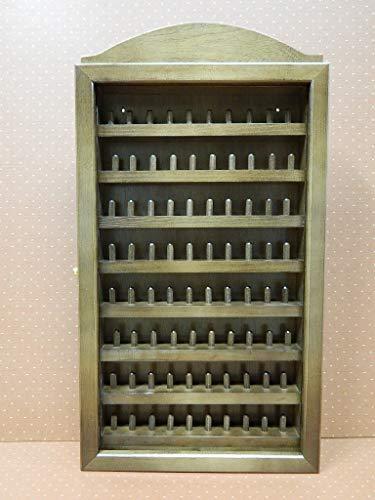 Artesanías Sándalo Vitrina colección de dedales Nogal para 80 dedales