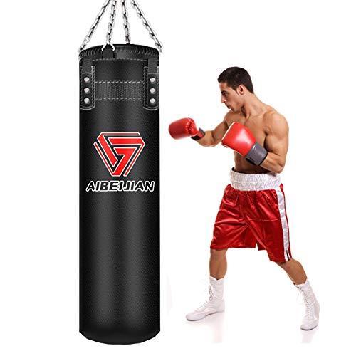 GYPPG Sandsack Zum Boxen Ausbildung, Gefüllt Punching Bag Boxing Boxsack Kickboxen Tasche Mit Kette, Für Grappling, MMA, Kickboxen, Muay Thai, Karate, BJJ & Taekwondo Trainingsgeräte,180cm