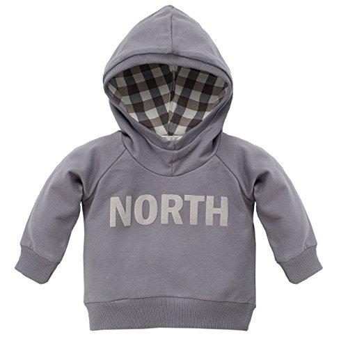 Pinokio Pinokio Baby - Jungen Kapuzen Sweatshirt/Shirt Baumwolle aus der Serie North Grey (98)