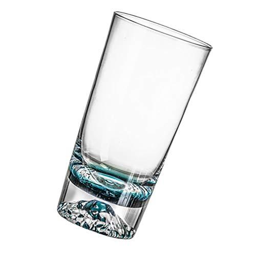 Garneck Taza de Agua de Vidrio Transparente Taza de Café Azul Degradado Taza de Café Taza de Leche de Apilamiento Disfruta de Una Experiencia de Bebida Encantadora (Altura 15Cm) Imagen 1