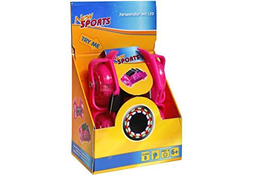 VEDES Großhandel GmbH - Ware 73420491 New Sports Fersenroller mit LED, pink, bunt