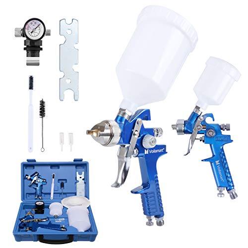 Voilamart 2 Set HVLP Gravity Feed Spray Gun Set with 600CC 125CC Cup...