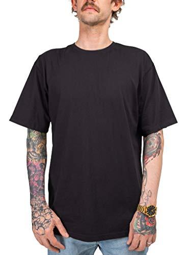 Lanai T-Shirt Herren schwarz - Oversized/lang geschnitten - 100% Bio-Baumwolle nachhaltig & Fairtrade - hochwertige Qualität - einfarbiges Basic Männer (Größe L)