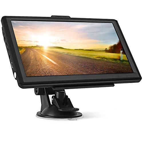 GPS Navi Navigationsgeräte für Auto,7 Zoll 8GB 256MB Touchscreen Navigation für LKW PKW KFZ,POI Blitzerwarnung Sprachführung Fahrspurassistent 2020 Europa Karten