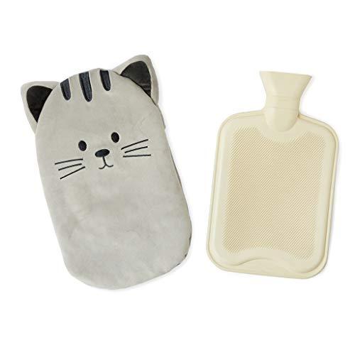 balvi Wärmflasche Kitty Farbe Grau Wärmflasche mit sanfter Oberfläche in Katzenform Kautschuk/Polyester