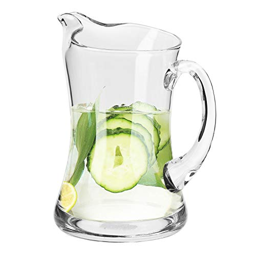 KROSNO Glazen Waterkruik | 1200 ml | Splendour Collectie | Tafel Kristalglas | Perfect voor Thuis, Restaurants en Feesten | Koelkast en Vaatwasser Bestendig