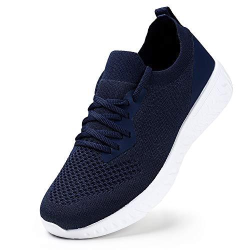 Damen Laufschuhe Mode Leichte Sportlich Sneaker Schuhe Absorbieren Sportsschuhe Fitness Tennisschuhe Indoor Dunkelblau EU41