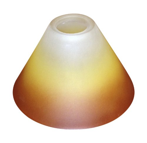 Lampenglas Lampenschirm E14 farbverlauf orange gelb rot weiss KK03