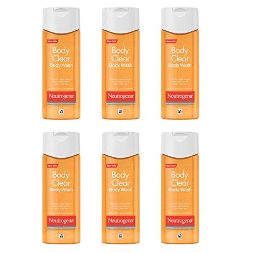 Neutrogena Body Clear Acne Body Wash with Glycerin & Salicylic Acid Acne Medicine for Acne-Prone Skin, Non-Comedogenic, 8.5 fl. oz (Pack of 6)