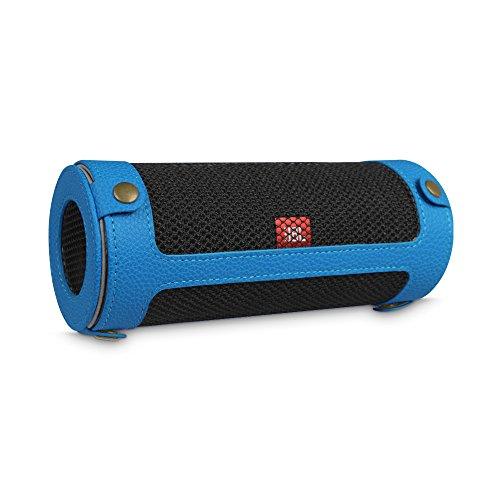 Fintie Hülle Abdeckung für JBL Flip 4 Tragbare Lautsprecher - Hochwertiges Kunstleder Schutzhülle Tasche Hülle mit Karabinerhaken für JBL Flip4 Tragbare Lautsprecher, Königsblau