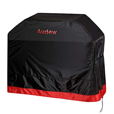 Audew Grill Cover, 64-inch BBQ Cover, 210D Grill Covers Heavy Duty Waterproof, UV and Fade Resistant, Dust-proof, Rip-proof for Weber, Char Broil, Holland, Jenn Air, Brinkmann