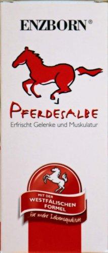 Enzborn Pferdesalbe mit Rosmarin, Arnika und Rosskastanienextrakt Inhalt: 30ml Testgrösse Ideal auf Reise oder unterwegs. Entspannt die Muskulatur und pflegt die Haut.
