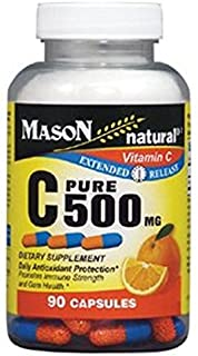 Mason Vitamins C 500 mg Extended Release Capsules, 60 Count