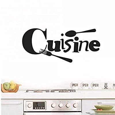 Ruluti Cuisine Stickers French Wall Stickers Home Decor Wall Decals for Kitchen Decoration Decal Sticker Wall Poster Home Decoration