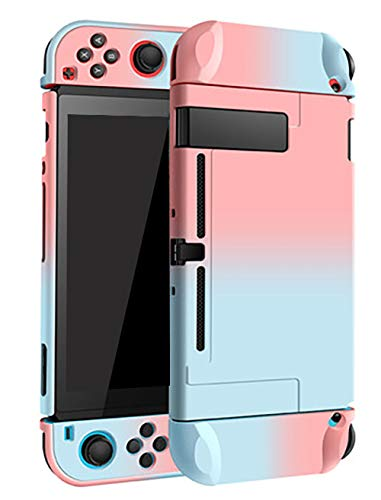 Boîtier Dockable pour Nintendo Switch Housse de protection de transport rigide Boîtier pour Nintendo Switch Console Joy Con Controller Blue Mixed Pink