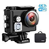 WiMiUS L2 Actioncam WiFi Action Cam 4k wasserdichte Action Kamera HD 1080P Sports Action...