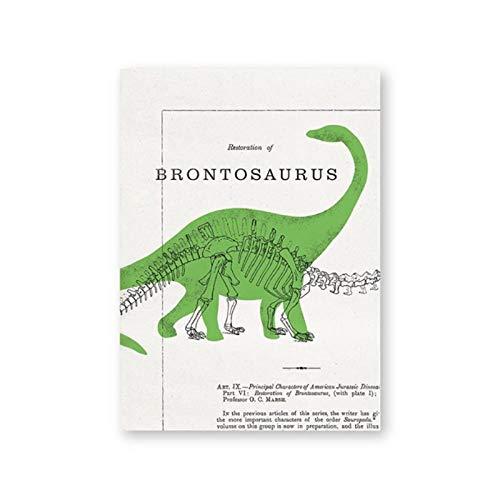 zhaoyangeng Brontosaurus Leinwandplakat   Wandkunstmalerei, Dinosaurierplakat In Einer Krippe, Wanddekoration Für Kinderzimmer - 50X70Cm Ungerahmt