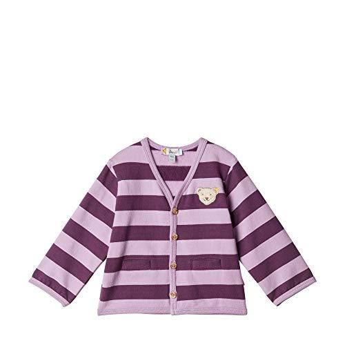 Steiff Baby - Mädchen Sweatjacke , Violett (LAVENDER MIST 7020) , 56 (Herstellergröße:56)