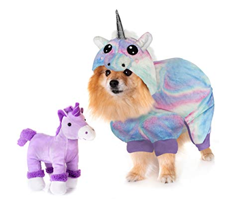 Dog Onesie - The Unicorn by LAURDIY Most Adorable Dog Pajama Outfit, Small