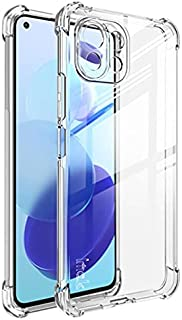 Xiaomi Mi 11 Lite 6.55 Inch (Xiaomi Mi 11 Lite) Acrylic Back Case with Edges Cover Full Camera Protector - Transparent
