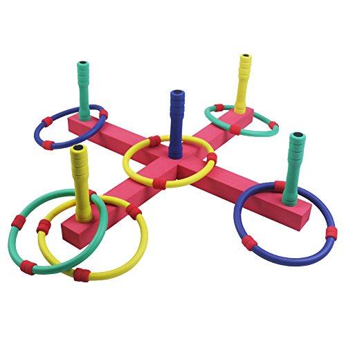 Wurfspiel Outdoor Ringwurfspiel Werfen den Ring Spiele für draußen Aktiver Indoor Spielspaß mit 6 Wurfringen Spielzeug Geschenk für Kinder ab 3 4 5 6 Jahre Junge Mädchen (MEHRWEG)
