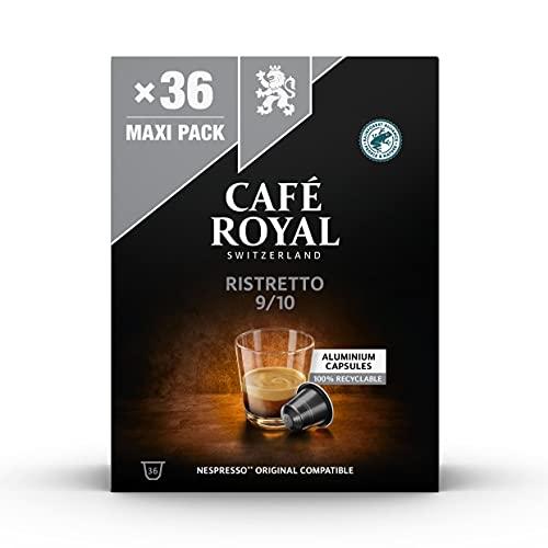 Café Royal Ristretto 36 Nespresso®* kompatible Kapseln aus Aluminium, Intensität 9/10