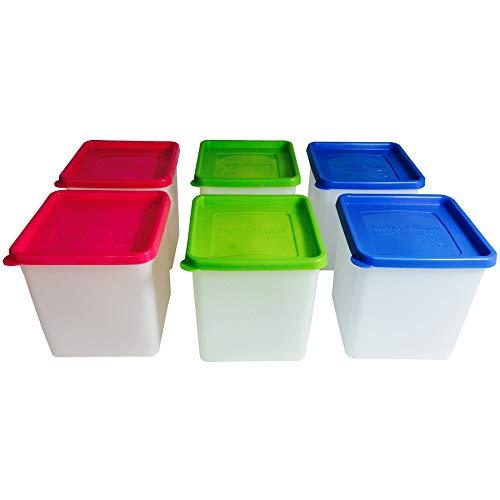 12 oder 6 Stück Tiefkühldosen inkl. Gefrieretiketten Gefrierdosen zum Einfrieren - Frischhaltedosen stapelbar - Vorratsdosen zum Einfrieren und Auftauen - Mikrowellendosen - 0,5 Liter - 0,7 Liter - 1,0 Liter - 1,2 Liter (6 x 1,2 Liter)