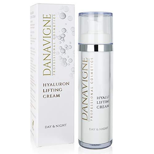 Danavigne Hyaluron Creme hochdosiert gegen Falten [50ml] I Hyaluronsäure Creme für Frauen & Männer I Anti Aging Gesichtscreme, Hyaluronic Acid