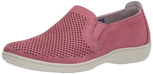 Aravon Womens Lia Slipon Sneaker, Pink, 11 Wide