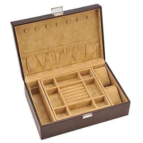 CHYSP Caja de Madera del Pendiente del Anillo del joyero del Estilo del Vintage para el gabinete de exhibición de los Regalos de Boda de los Amigos