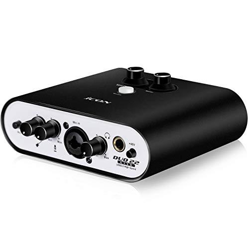 Icon Pro Audio Duo 22 Live USB-Audio-Schnittstelle mit mobilen Streaming-Funktionen, (1 Mikrofon-Vorverstärker)