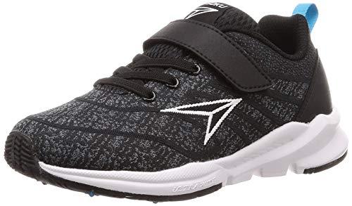 [シュンソク] スニーカー 運動靴 幅広 軽量 15~25cm 3E キッズ 男の子 女の子 SJJ 7850 ブラック 24 cm
