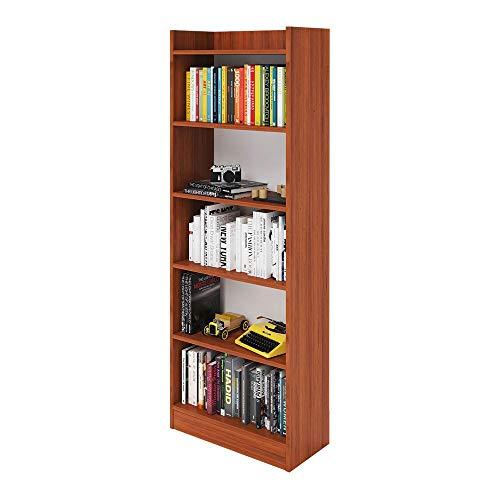 Mobile Libreria Ciliegio In Legno Nobilitato 6 Ripiani H180x64x29 Cm