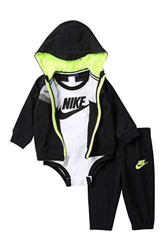 Nike Baby Boys Futura Terry 3 Piece Deluxe Gift Set (Black(56C055-023)/White, 0-6 Months)