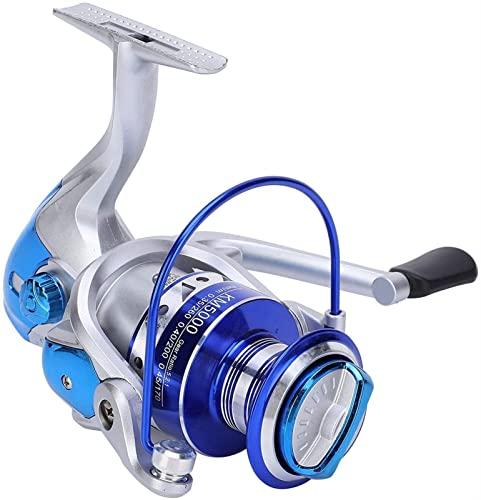 Carrete de Pesca Reel Izquierdo/Derecho Intercambiable, 13 rodamientos Reel de Giro Metal 5.2: 1 Relación de Engranajes Izquierda/Intercambiable (Color : KM4000)