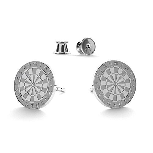 GIORRE ¤ Neu Giorre Dart Cup Ohrringe ¤ Feine Sterling Silber 925 SILBER : White Rhodium Plating
