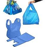 Bolsas de plástico resistente, de plástico azul, blanco, 16 Mu...