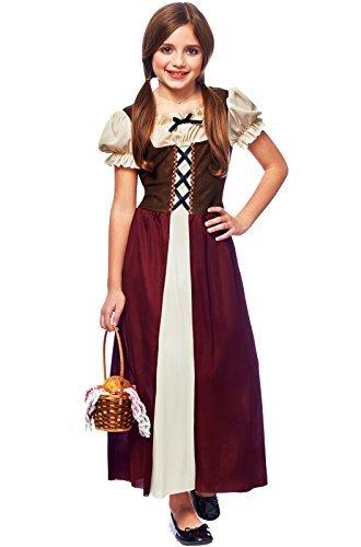 Costume Culture Childrens' Peasant Girl Costume, Burgundy, Medium