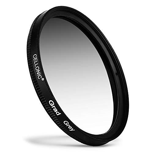 CELLONIC® Grauverlauf Filter kompatibel mit Olympus Zuiko Digital Ø 58mm Neutraldichte Verlauffilter Grau, ND Verlauffilter