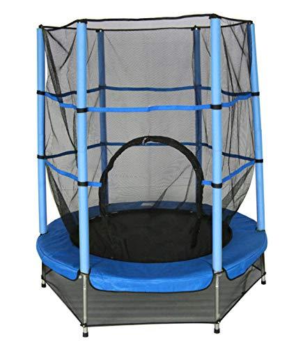 trampolin mit Sicherheitsnetz blau 139 cm