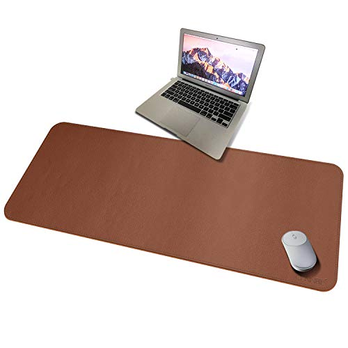 CENNBIE Extended leather Gaming Mouse Pad/Mat, Large Office Writing Desk Computer leather Mat Mousepad,Waterproof - 39.3'x19.6' (Rainforest Green)