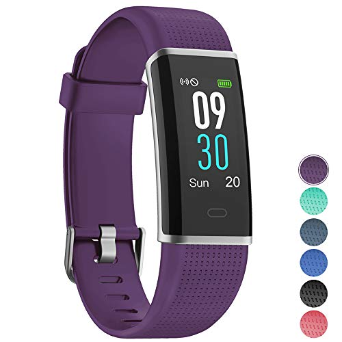 Fitness Tracker with Heart Rate Monitor,YAMAY Fitness Watch Activity Tracker Smart Watch with Sleep Monitor 14 Sports Mode,Pedometer Watch for Kids Men Women (Color Screen,IP68 Waterproof) (Purple)